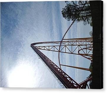 King Canvas Print - Kings Dominion - Intimidator 305 - 01131 by DC Photographer