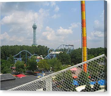 Kings Dominion - Shockwave - 01132 Canvas Print by DC Photographer