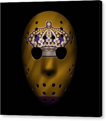 Kings Jersey Mask Canvas Print