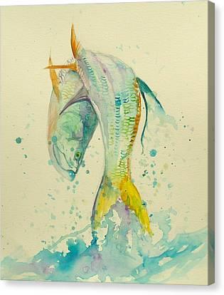 Trout Canvas Print - King's Jump  by Yusniel Santos
