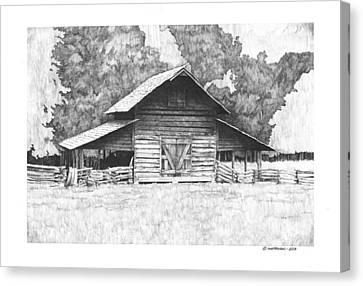 King's Mountain Barn Canvas Print by Paul Shafranski