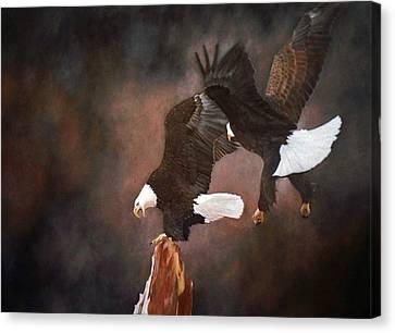 Kings Of The Sky Canvas Print by Jean Yves Crispo