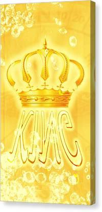 King 2 Canvas Print by Pierre Chamblin