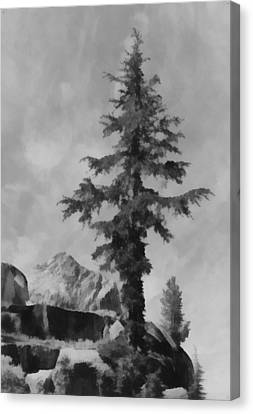 Kings River Canyon Canvas Print by Ansel Adams