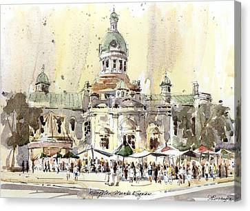 Kingston Market Square Canvas Print by David Gilmore