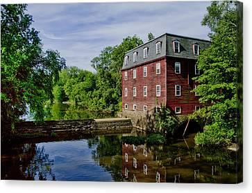 Kingston Mill Near Princeton New Jersey Canvas Print by Bill Cannon