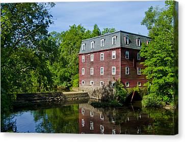 Kingston Mill Princeton Nj Canvas Print by Bill Cannon
