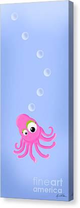 Kiniart Octopus Canvas Print by Kim Niles