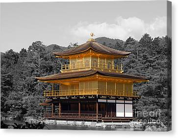 Kinkaku-ji Canvas Print by Cassandra Buckley