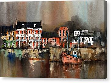 Kinsale Dusk West Cork Canvas Print by Val Byrne