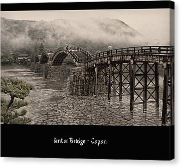 Kintai Bridge Canvas Print by Kim Andelkovic