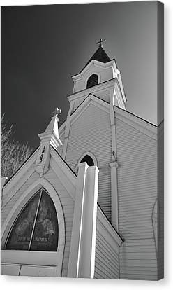 Kirche Der St Walburga Canvas Print by Guy Whiteley