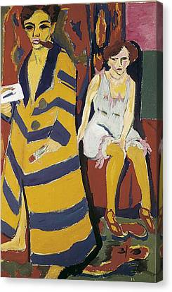 Kirchner, Ernst Ludwig 1880-1938 Canvas Print by Everett