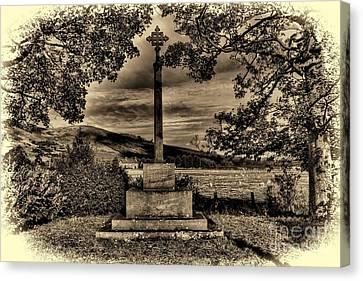 Kirknewton War Memorial Northumberland Canvas Print