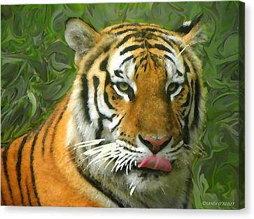 Canvas Print featuring the photograph Kisa Painted by Sandi OReilly