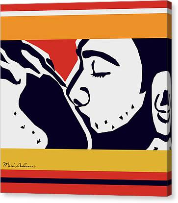 Kiss 2 Canvas Print by Mark Ashkenazi