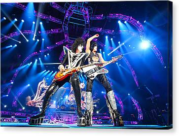 Kiss - 40th Anniversary Tour Live - Stanley And Thayer Canvas Print by Epic Rights