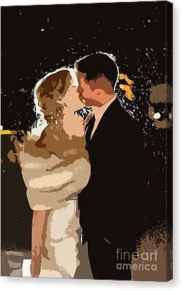 Kiss Canvas Print by Catherine Lott