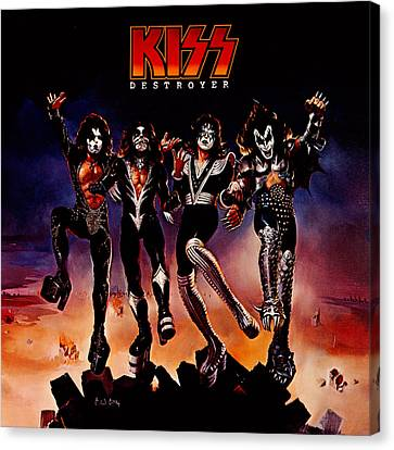 Kiss - Destroyer Canvas Print by Epic Rights