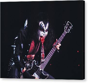 Kiss - Gene Simmons Blood 1973 Canvas Print by Epic Rights