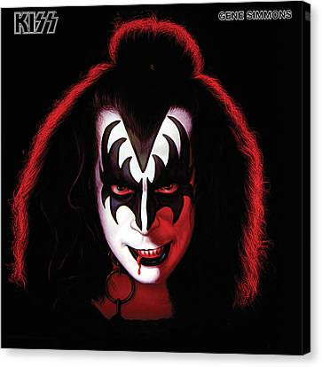 Kiss - Gene Simmons Canvas Print by Epic Rights