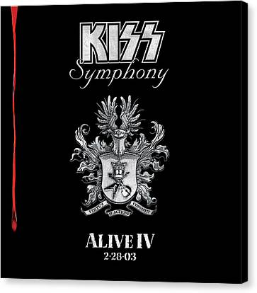 Kiss - Kiss Symphony: Alive Iv Canvas Print by Epic Rights