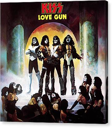 Kiss - Love Gun Canvas Print by Epic Rights