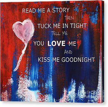 Kiss Me Goodnight Canvas Print by Andrea Anderegg