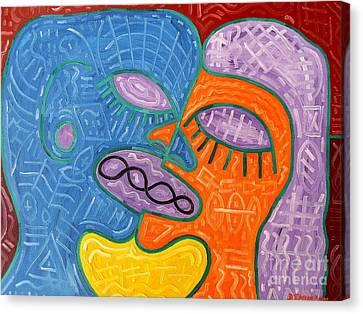 Kiss Canvas Print by Patrick J Murphy