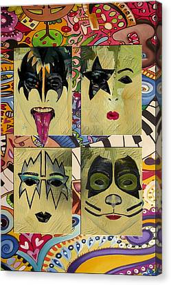 Kiss The Band Canvas Print by Corporate Art Task Force