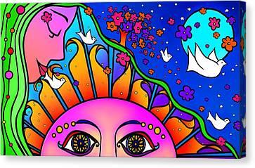 Kiss The Sun Canvas Print
