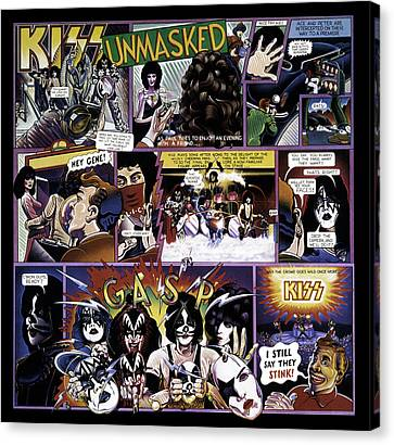 Kiss - Unmasked Canvas Print by Epic Rights