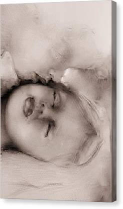 Guardian Angel Canvas Print - Kissed By An Angel by Jean Cormier