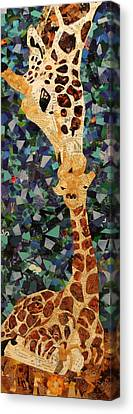 Kisses From Momma Canvas Print by Paula Dickerhoff