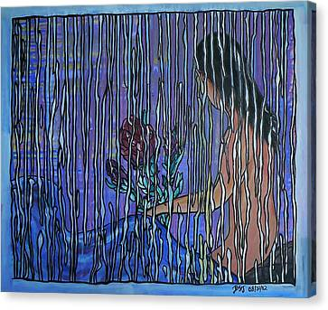 Kissing Rain Canvas Print