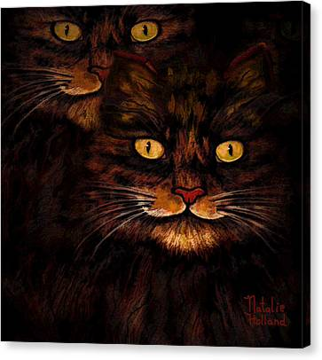 House Pet Canvas Print - Kit And Kat by Natalie Holland