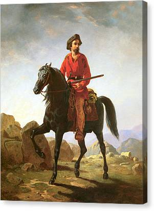 Kit Carson Indian Scout Canvas Print by William Tylee Ranney
