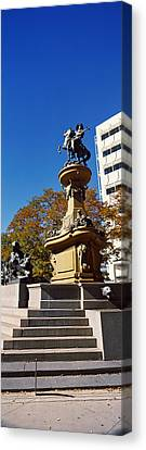 Kit Carson Statue, Pioneer Monument Canvas Print by Panoramic Images