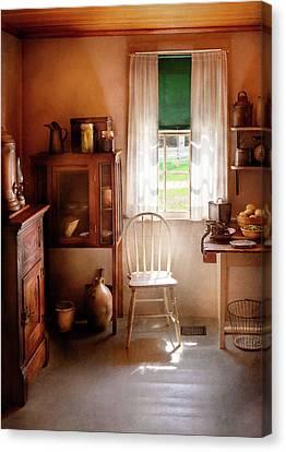 Kitchen Chair Canvas Print - Kitchen - A Cottage Kitchen  by Mike Savad