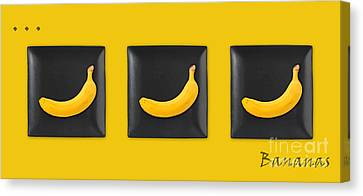 Kitchen Art - Bananas - V02 Canvas Print by Aimelle
