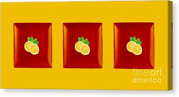 Kitchen Art - Citrus Lemon Canvas Print by Aimelle ML