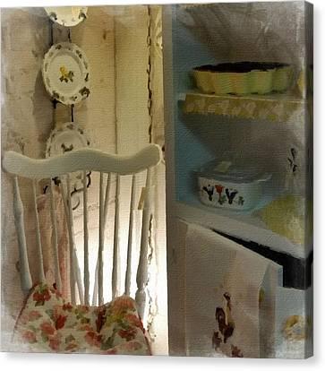 Kitchen Chair Canvas Print - Kitchen Chair by Bonnie Bruno
