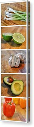 Lime Canvas Print - Kitchen Collage by Michelle Calkins