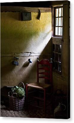 Kitchen Chair Canvas Print - Kitchen Corner by Dave Bowman