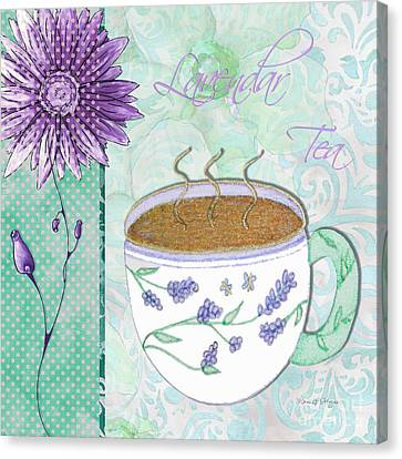 Kitchen Cuisine Hot Cuppa No80 By Romi And Megan Canvas Print