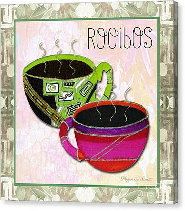 Kitchen Cuisine Rooibos Tea Party By Romi And Megan Canvas Print by Megan Duncanson