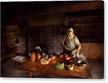 Kitchen - Farm Cooking Canvas Print by Mike Savad