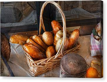 Kitchen - Food - Bread - Fresh Bread  Canvas Print by Mike Savad