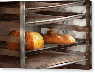 Kitchen - Food - Bread - Freshly Baked Bread  Canvas Print by Mike Savad