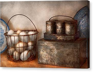 Kitchen - Food - Eggs - Fresh This Morning Canvas Print by Mike Savad